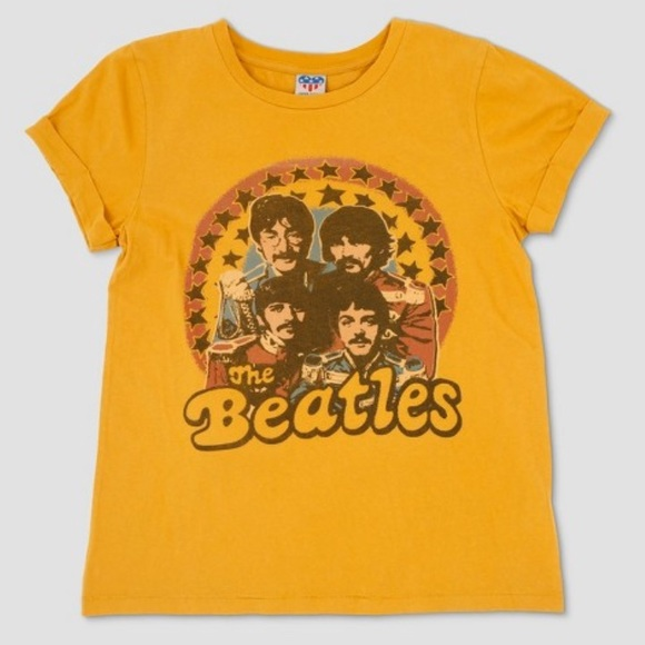 0e9a267a12bee Junk Food Clothing Tops - Junk Food Clothing Yellow Beatles T-Shirt